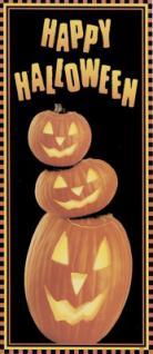 Halloween Kürbis Tür Poster