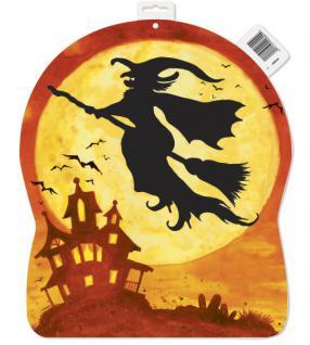 großes Halloween Pappschild Hexen Spuk