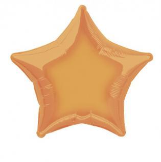 Folienballon Stern Orange