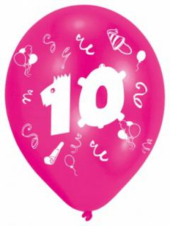 Luftballons 10. Geburtstag