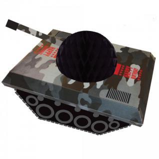 Tischaufsteller Camouflage im Einsatz