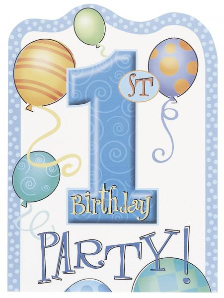 8 Einladungen Erster Geburtstag