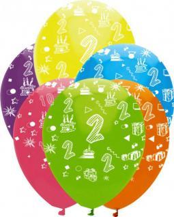 24 bunte Luftballons zum 2. Geburtstag
