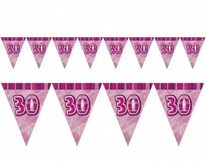 30. Geburtstag Wimpel Girlande Pink