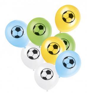 8 Fußball Luftballons