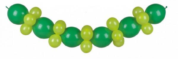 Ballon Girlande Grün Gelb