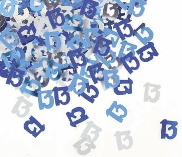 13. Geburtstag Deko Konfetti Blau