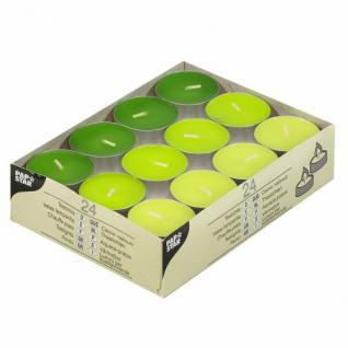 24 Teelichter Grün Mix