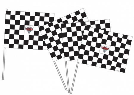 4 Cars Fähnchen Start und Ziel Flaggen