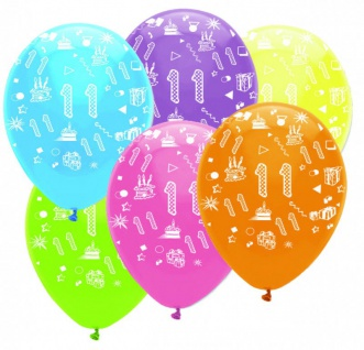 11 geburtstag girlande luftballons kerze deko set elf kaufen bei kids party world. Black Bedroom Furniture Sets. Home Design Ideas