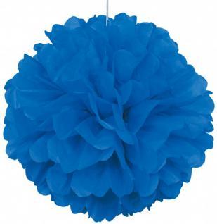 1 großer Papier Dekoball Königs Blau