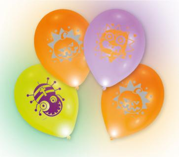 4 bunte LED Halloween Ballons