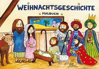Weihnachtsgeschichte Malbuch