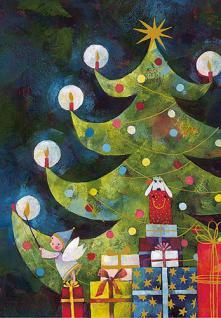 Weihnachts Postkarte Weihnachtsbaum