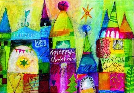 Weihnachts Postkarte Weihnachtslandschaft