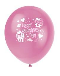 8 Valentins Ballons