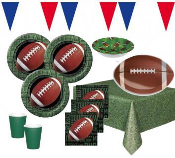 XXL 59 Teile Football Touchdown Superbowl Party Deko Set 16 Personen