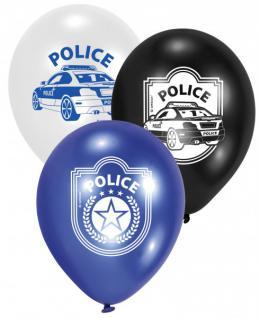 6 Polizei Luftballons