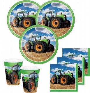 32 Teile Traktor Party Deko Set 8 Personen
