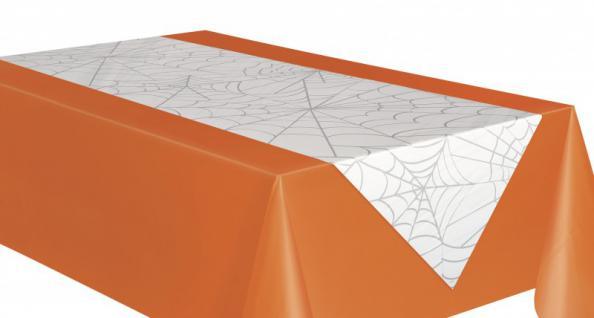 Halloween Spinnennetz Tischläufer
