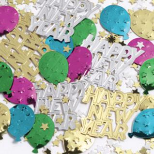 Happy New Year Silvester Konfetti