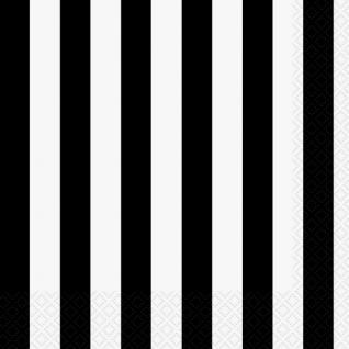 Servietten schwarze Streifen