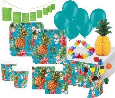 XXL 96 Teile Ananas Grill Party Deko Set Sommer Party 8 Personen