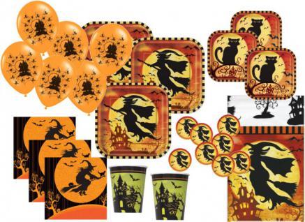XXL 85 Teile Halloween Party Set Hexen Spuk für bis zu 16 Personen