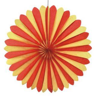 Dekofächer Rot-Gelb-Rot