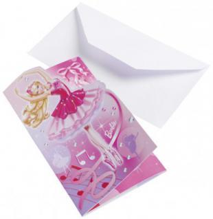 Barbie Einladungskarten die verzauberten Ballettschuhe
