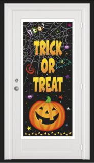 Halloween Tür Poster Kürbis Kumpels