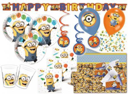 XXL 57 Teile Minions Party Deko Set für 6-8 Kinder