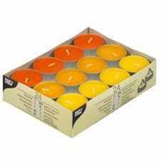 24 Teelichter Gelb Mix
