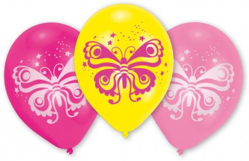 10 Schmetterling Ballons