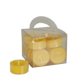 12 Teelichter Gelb