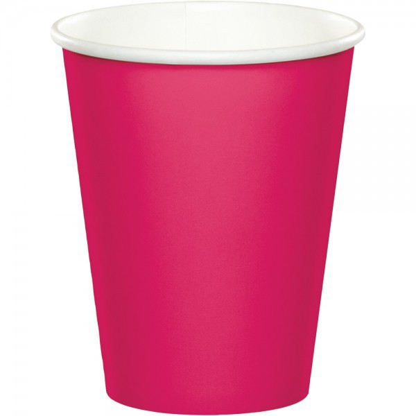52 teile party deko set pink magenta f r 16 personen for Pinke party deko