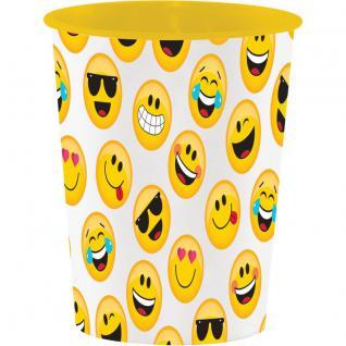 1 Stück stabiler Plastik Becher Emoticons
