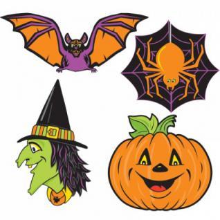 4 Dekoschilder Halloween