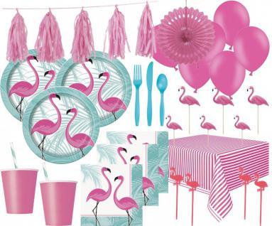 XXL 109 Teile Pink Flamingo Sommer Party Deko Set 8 Personen