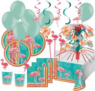 XXL 73 Teile Flamingo Island Party Deko Set Sommer Party 8 Personen