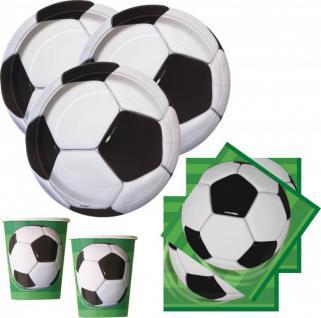 32 Teile Fußball Party Deko Set für 8 Personen