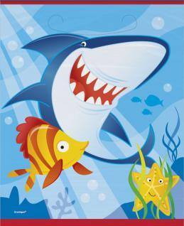 8 Party Tüten Haifisch Freunde