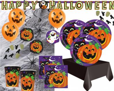 XXL Halloween Deko Set Fröhliches Halloween für 8 Personen