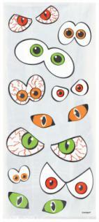 20 Zellophantüten Grusel Augen