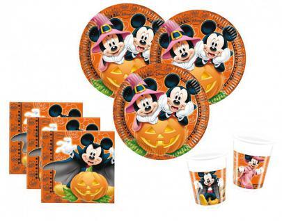 52 Teile Halloween Deko Set Micky und Minnie Maus 16 Kinder