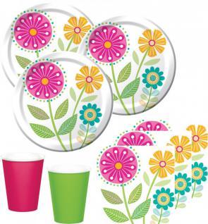 48 Teile Sommer Blumen Party Deko Set 16 Personen