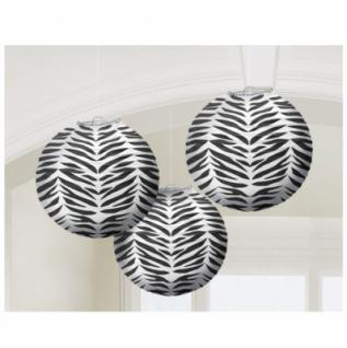 3 Zebra Laternen