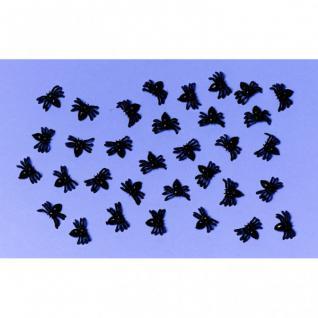 50 schwarze Mini Plastik Spinnen
