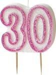30. Geburtstag Glitzer Kerzen Pick Pink