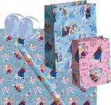 Frozen die Eiskönigin Geschenk Verpackung Set Rosa Blau - Anna, Elsa, Olaf - Geschenkpapier, Geschenktasche, Geschenkband - Weihnachten